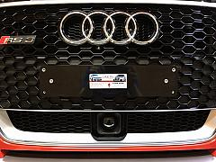 Audi RS3 NSW Premium front plate and Kingpin cover