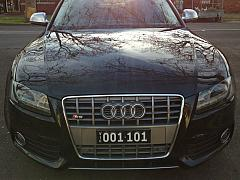 Audi S5 - Mini VIC Enamel Heritage Plate on LAKIN Bracket