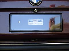 BMW 7 Series (E38) Rear plate with Custom bracket and Kingpin cover
