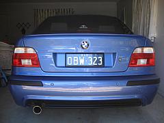 BMW E39 530i - Custom Bracket with cover in a tight space
