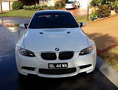 BMW M3 Coupe (E92) 2013 - Custom Brackets with Prestige Covers