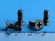 Black Zinc Plated Screw - Phillips CS head - 12.7mm - 10-24