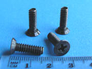 Black Zinc Plated Screw - Phillips CS head - 15.9mm - 10-24