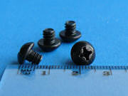 Black Zinc Plated Screw - Phillips button head - 4.76mm - 10-24