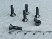 Short Screws - Black Zink - CS Phillips Head - 15mm, 8G
