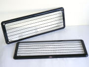 Prestige Number Plate Cover (Sold as single units) Striped Lens