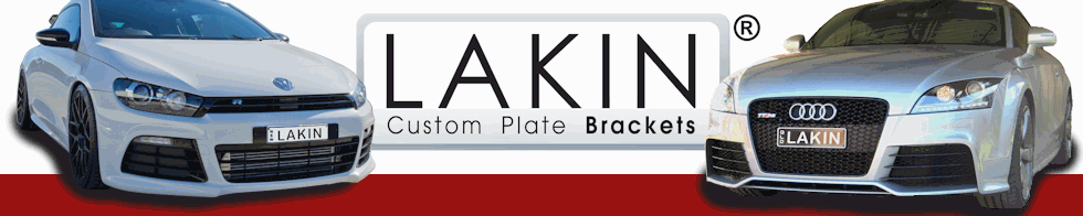 LAKIN Custom Plate Brackets :: Add some CLASS to your car